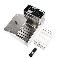 6L 2500W Electric Countertop Deep Fryer Commercial Basket French Fry Tank