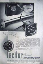 1947 'PACITOR' Aircraft Electronic Fuel Gauges Advert - Vintage Artwork Print Ad