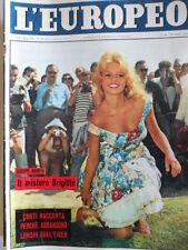 L' EUROPEO n°30 1959 il mistero di Brigitte Bardot Copertina  [C76]
