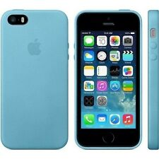 Orginal Apple Leather Leder Case Leder Hülle Cover für iPhone SE 5 5s Blau Blue