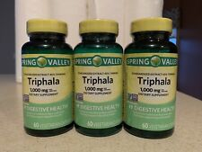 3 Spring Valley Triphala 1000 mg~ 60 Veg Capsules Dietary Supplement Digestive