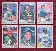 1983 Fleer Oakland A's Baseball Team Set (25 Cards) ~ Rickey Henderson JOE RUDI