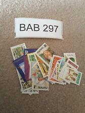 Nauru Bulk Collection 31 Different Stamps Lot FV$8.70 BAB297