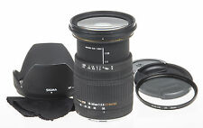 Sigma 18-50mm f2.8 EX DC macro lens for Canon +UV filter +hood +caps *good cond*