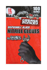 Grease Monkey Nitrile Disposable Gloves Large 100 pk Black
