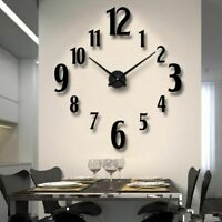 Wall Clocks Stickers Home Decor Living Room Creative Minimalist Watch DIY 3D New