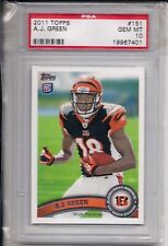 2011 TOPPS FOOTBALL PHOTO VARIATION A.J. GREEN #151 ROOKIE PSA 10 SP RARE ONLY 1