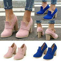 Women's High Heels Pumps Pointed Toe Summer Suede Sandals Slip-On Party Shoes