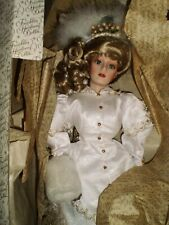 Franklin Heirloom porcelain doll Kristina bride 22 inches First Annual Christmas