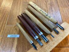 Japanese vintage CHOKOKUTO Wood Carving Tool Hand Chisel Set 6 Gouge UK040
