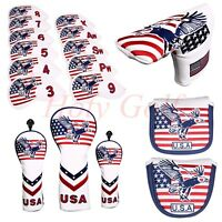 Golf Head Cover For Driver Fairway Wood Hybrid Iron Club Putter USA Design Cover