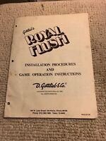 original Royal Flush  Gottlieb pinball MACHINE manual