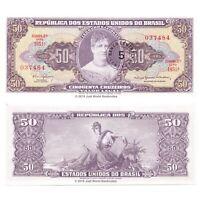 Brazil 5 Centvos on 50 Cruzeiros ND (1966-1967) P-184b Banknotes UNC