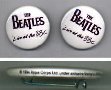 Beatles LIVE AT THE BBC Pair Of 1994 Official Capitol Licensed Promo Buttons