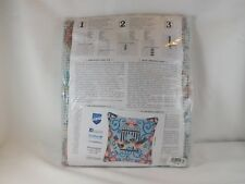 Vervaco Stamped Cross Stitch Pillow Kit - New - Birds in a Cage