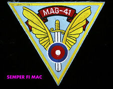 MAG-41 PATCH US MARINES AIRCRAFT GROUP 41 USMC PIN UP FORT WORTH F/A-18 4TH MAW