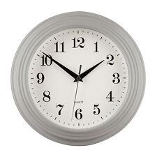 Large Grey Vintage Round Design Kitchen Home Office Room Quartz Wall Time Clock
