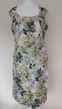 Mint Velvet Dress Size 12 green floral fully lined