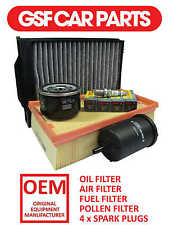 Service Kit Oil Air Fuel Pollen Filters & Spark Plugs Renault Megane 1.6 16V