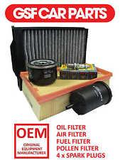 Service Kit Oil Air Fuel Pollen Filters & Spark Plugs Renault Megane 1.6 16V