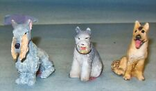 3 Dogs Made Of Resin #1 1/12 Scale Dollhouse Furniture Miniatures