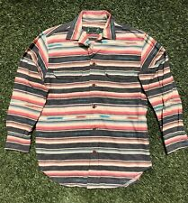 Vintage Ralph Lauren Country Button Front Shirt Aztec Striped 90s Small Polo