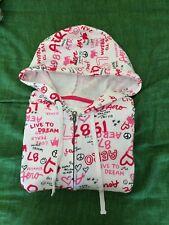 Felpa con cappuccio e zip bianca fucsia rosa nera XL Aeropostale hoodie