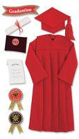 Jolee's Boutique Dimensional Stickers-Graduation Cap & Gown - Red, PJBLG105