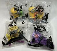Lot of 4 NIP - 2017 McDonald's Despicable ME3 Happy Meal Toys - New & Sealed