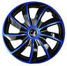 Set of 16'' Wheel trims hub caps fit Vauxhall Zafira Meriva Astra - black blue