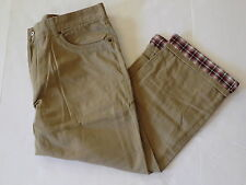 Croft & Barrow 40 x 32 khaki flannel lined pants khaki tan beige new twill