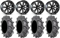 "MSA Black Kore 14"" UTV Wheels 30"" BKT AT 171 Tires Polaris RZR Turbo S / RS1"