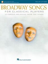 Broadway Songs for Classical Players Cello and Piano With online audio 000265891