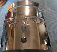 YANKEE CANDLE FESTIVE CHROME SNOWMAN JAR CANDLE HOLDER SLEEVE METAL New