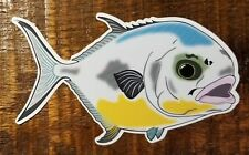 """Fishing Bumper Stickers PERMIT 5"""" x 3"""" decals fly fishing saltwater fly fishing"""