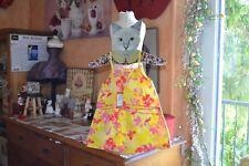 robe marese neuve 4 ans jaune avec des fleurs bretelles ete*