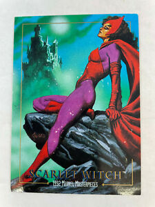 SINGLE CHASE CARD: Marvel Masterpieces 1992 LOST LADIES #LM-1 Scarlet Witch