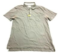 Billy Reid Mens Gray Short Sleeve Polo Shirt Size Large