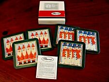 Pimpernel Made In England 6 Christmas Santa & Snowman Cork Coasters Exc