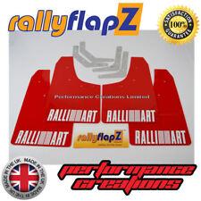 rallyflapZ Mitsubishi Evo 1, 2 & 3 Mudflaps & Fixings Red Kaylan PU Logo White