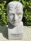 "Phrenology by L.N. Fowler Head 8""h Ceramic or Porcelain Bust 337 Strand London"