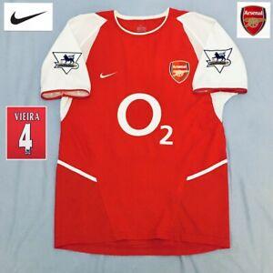 Original ARSENAL Football Shirt VIEIRA 2003 mint NIKE vintage jersey