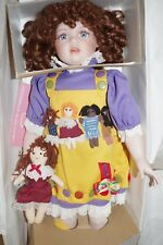 "NEW in BOX 24"" Porcelain William Tung Doll & Baby 69/1500 JOCELYN Red Curls"