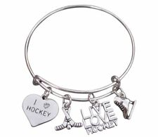 Hockey Jewelry - Hockey Bangle Bracelet - Perfect Gift for Hockey Players