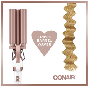 Conair Double Ceramic Triple Barrel Curl Styling Waver