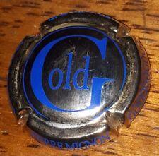 Capsule de champagne Pierre Mignon cuvée prestige gold bleu plaque muselet new
