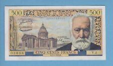 ( Ref: Y.2) 500 FRANCS VICTOR HUGO 7/01/1954 (SPL-) 10 exemplaires même alphabet