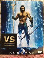 Jason Momoa Autographed 8 X 10 Aquaman Movie Photo COA CERTIFIED