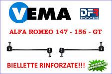 2 BIELLETE SOSPENSIONE ANTERIORI RINFORZATE ALFA ROMEO 147 156 GT VEMA