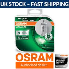 OSRAM Ultra Life H4 Long Life Headlight Bulbs (Twin Pack) 64193ULT-HCB